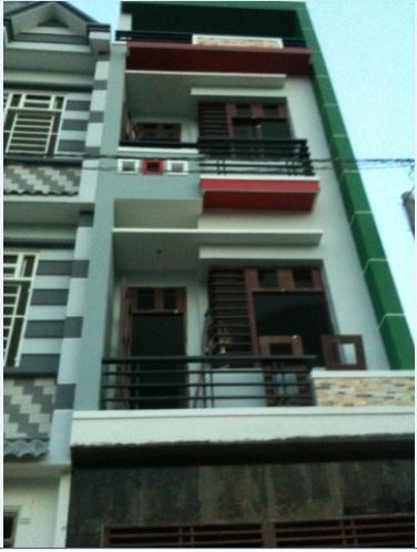 Bán nhà giá rẻ 1 trệt, 2 lầu, DTSD 84m2, Giá 690 triệu, gần chợ,gần trường học, Q12